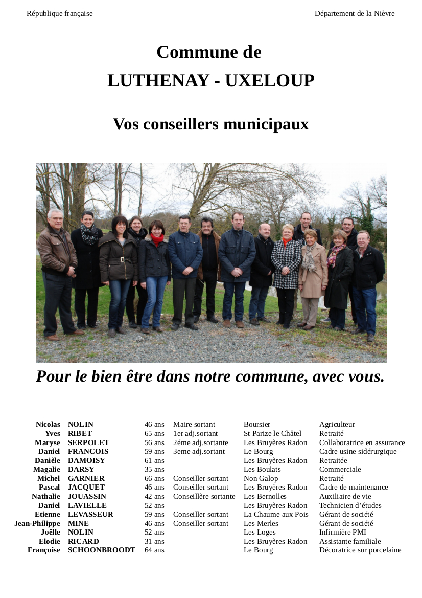 Conseillers Municipaux Luthenay rectif site